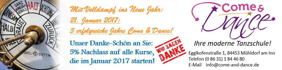Herzlich Willkommen bei Come & Dance